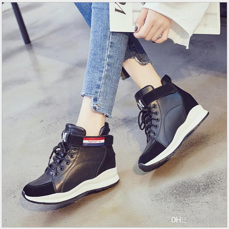 Women Fashion Casual Shoes Woman Sneakers Women Lace Up Platform