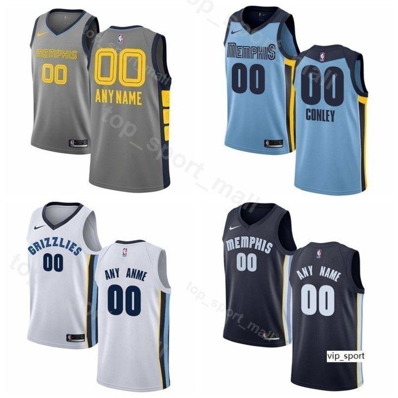 free shipping 7fb02 7099b Print Men Youth Women Mike Conley Jersey Memphis Basketball Grizzlies Jonas  Valanciunas Avery Bradley Jaren Jackson Jr. Delon Wright Shirts