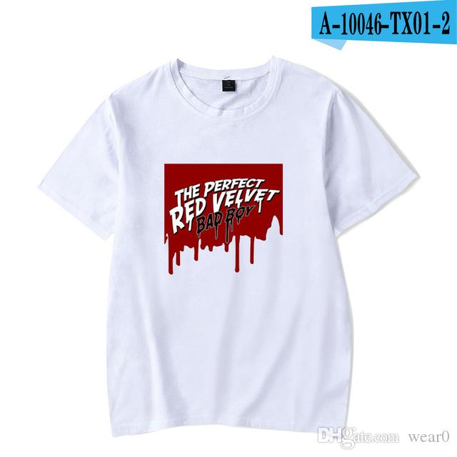 561b4ac5ed46d 2019 Womens Luxury Designer T Shirts Harajuku Summer New Arrival Bad Boy  Album Red Velvet O Neck T Shirt Fashion Short Sleeve T Shirt Shirts For Men  Shirt ...