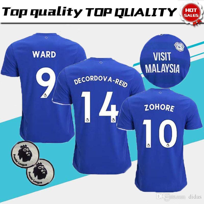 b384e7aa8 Top Quality 2019 Cardiff City Soccer Jerseys 18 19 Cardiff Home Blue ...