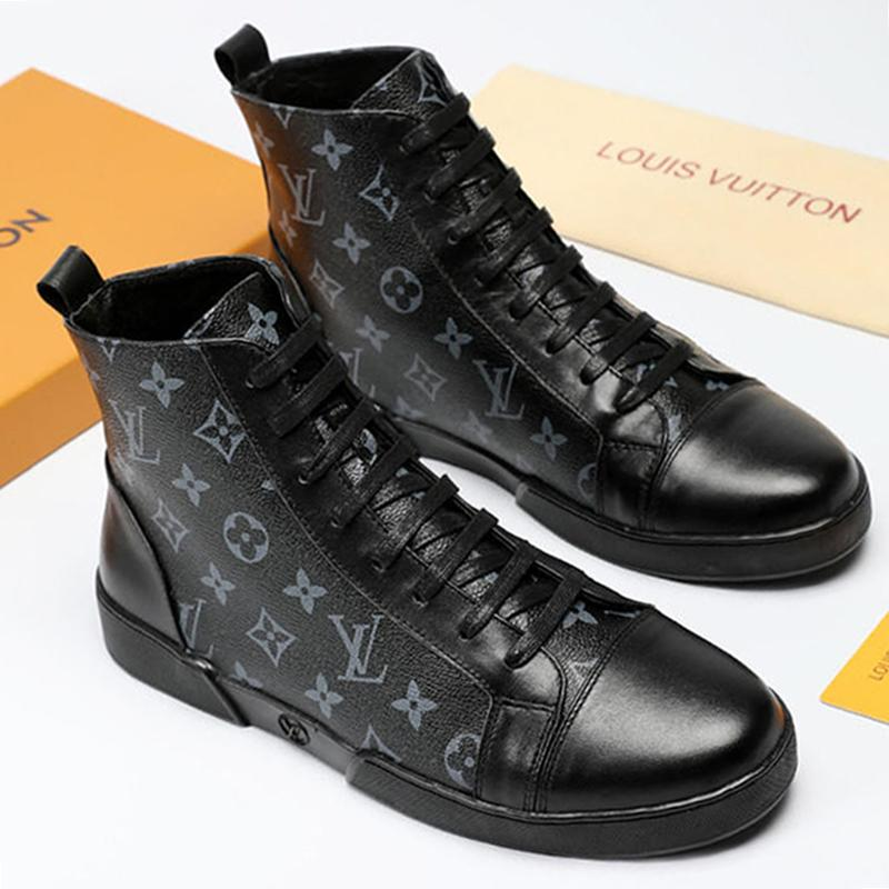 504409104b8a9 High Top Men Casual Shoes Boots 2019 Fashion Men Shoes Trainers Zapatos De  Hombre Offshore Sneaker Boot Ankle Boots Leather Big Size Girls Boots Black  Ankle ...