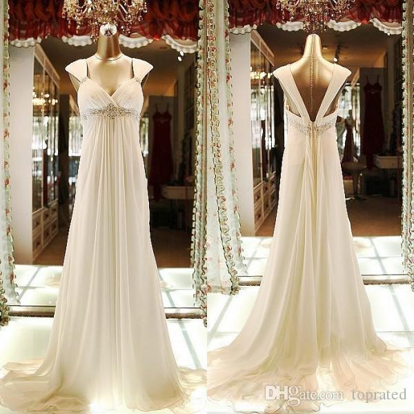 Pregnant Wedding Dresses 2019 Maternity Wedding Gowns Empire A Line Spaghetti Straps Beach Wedding Dresses Fancy Custom Made
