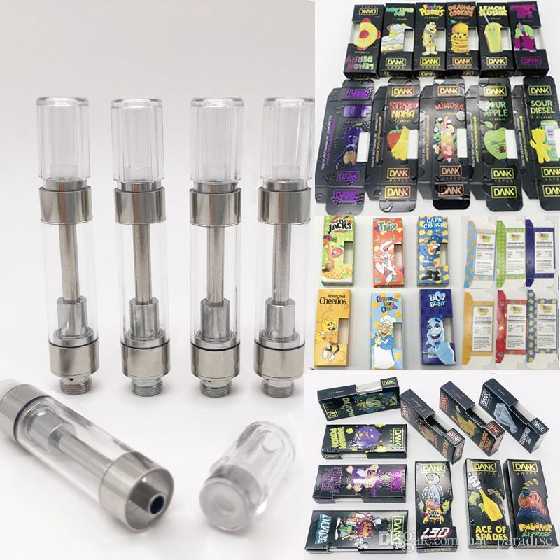 Dank Vapes Cartridges Packaging with 1 0ml Vape Cartridge Empty Vape Pen  510 Oil Cartridge Vaporizer Side Window Vapes Cartridges Packaging
