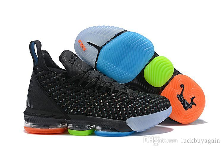 e10ce68d352 2019 High Quality Athletic LeBron 16 Basketball Shoes Men Black White  Metallic Gold Red Green Multi Sneaker From Luckbuyagain