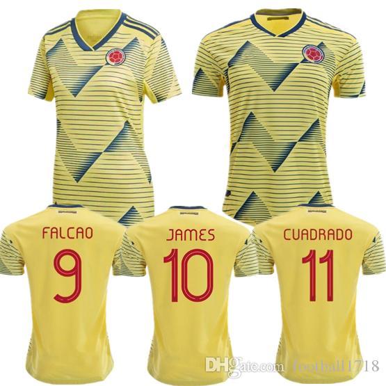 James Camiseta 20 Falcao Valderrama De 19 Mujer Copa Fútbol Cuadrado Mateus América Hombre 2019 Camisetas Colombia UpzMVGSq
