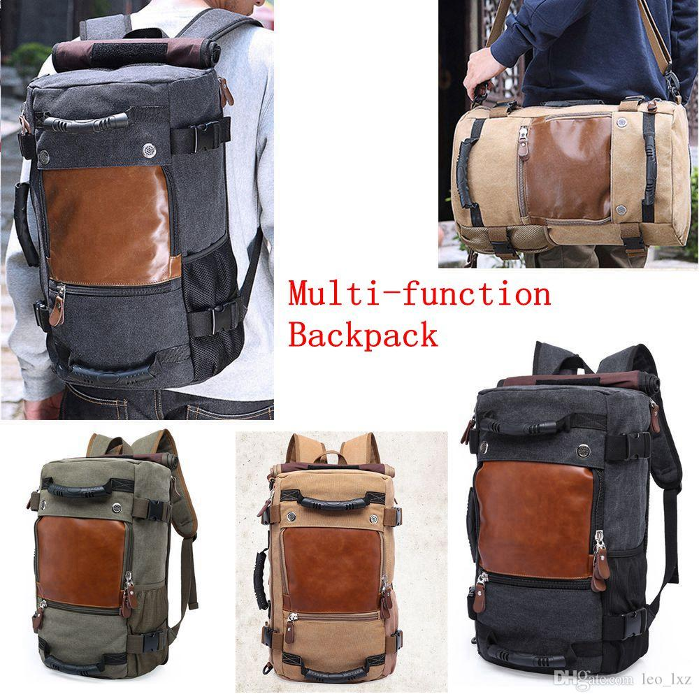 f789851b2e64 2019 Travel Large Capacity Backpack Male Luggage Shoulder Bag Computer Backpacking  Men Functional Versatile Bags Tactical Backpack From Leo lxz