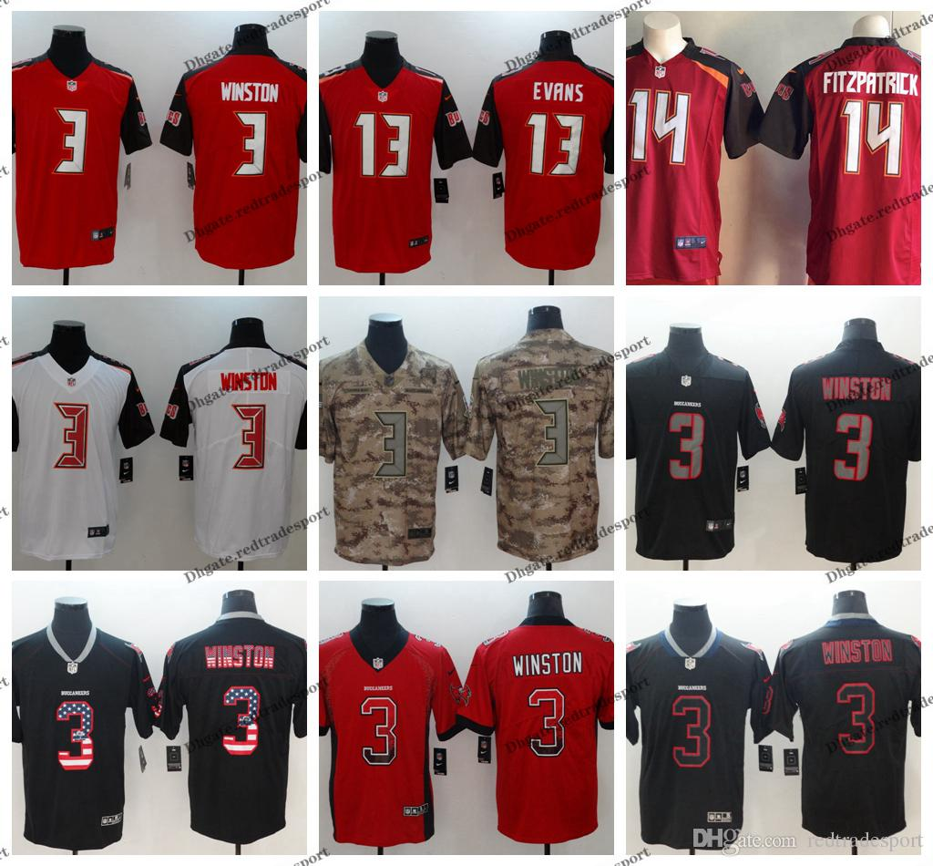 0a651f3813a 2019 2019 Camo Salute To Service Tampa Bay 3 Buccaneers Jameis Winston  Football Jerseys 13 Mike Evans 14 Ryan Fitzpatrick Vapor Untouchable Shirt  From ...