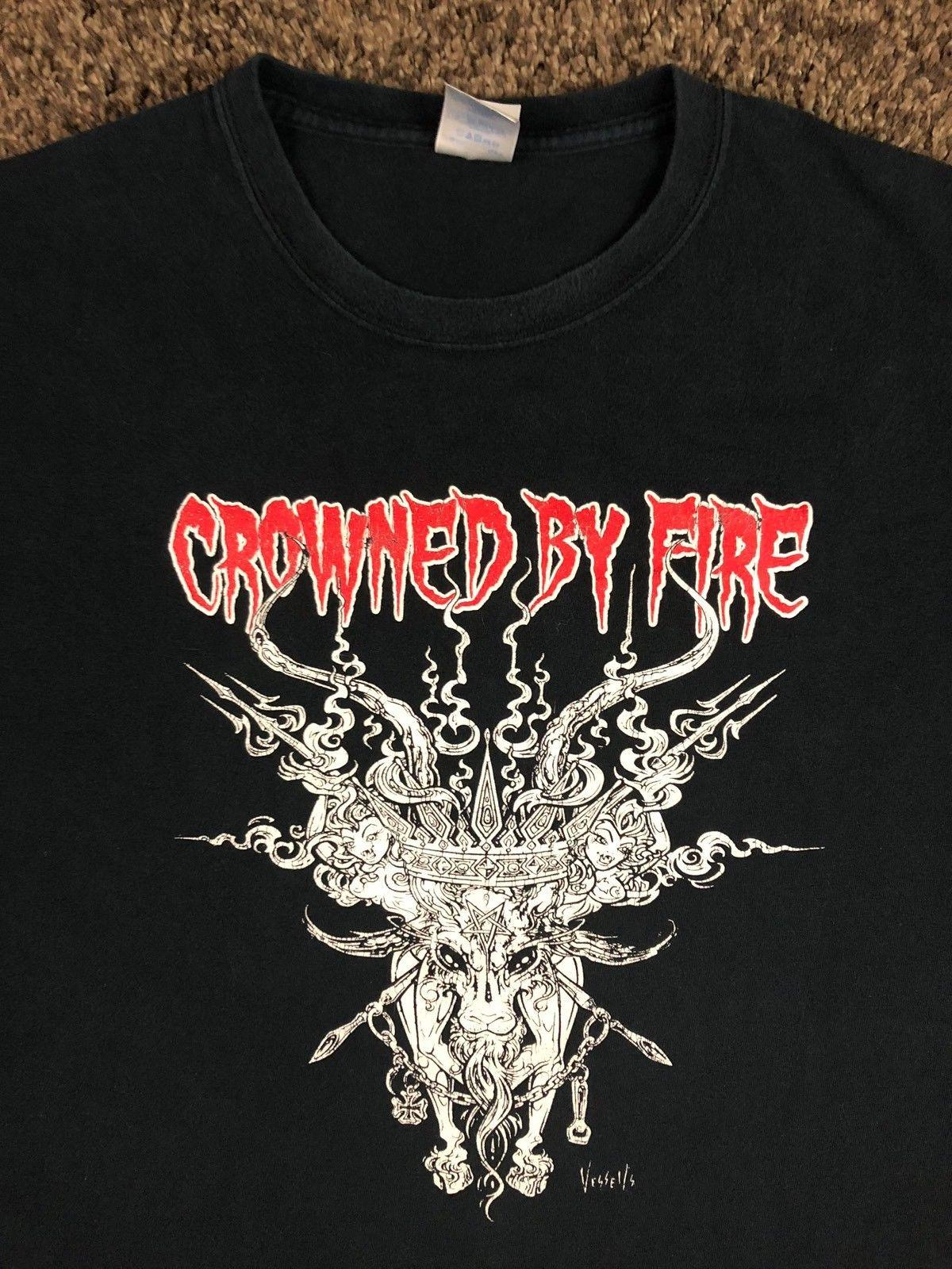 Crowned By Fire CFB Goat Los Angeles Doom Metal Grunge T Shirt 3XL Concert  Tour High Quality Cotton Hip Hop Short Sleeve
