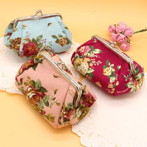 5pcs New Wholesale-Women fashion Ethnic National Retro Butterfly Flower Bag Handbag Coin Purse Embroidered Bag Lady Handbag
