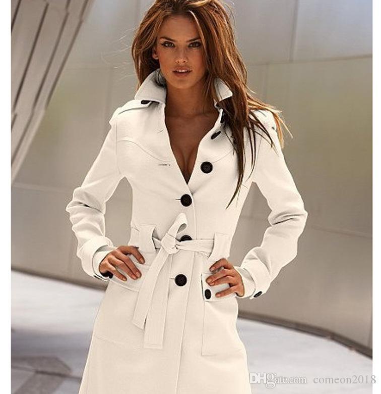 Compre Moda Para Mujer Ropa Para Mujer Diseñador Abrigos De Invierno Con  Cinturón Mujer Suelta Fajas De Manga Larga Solapa Cachemira Cazadora  Cortavientos ... 26280aafbaa0