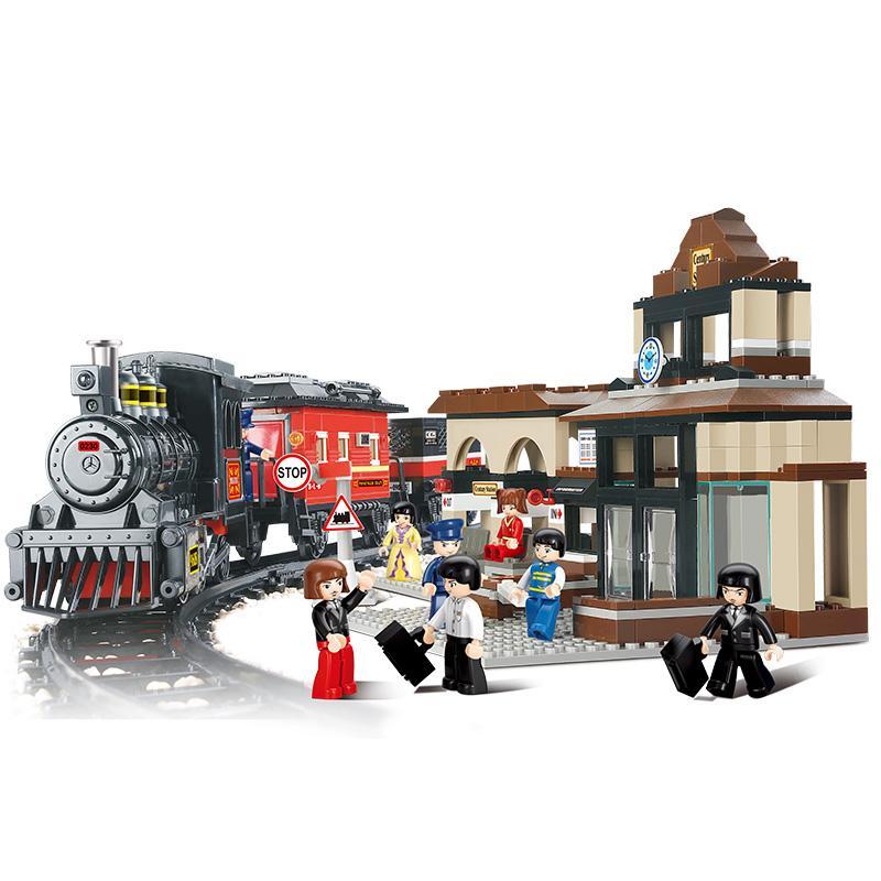 Figure Compatible Gare Enfants Pcs Cadeau Modèle Building Block Siècle Jouets 526 Pour B0236 Legoe Construction 1FJlKc