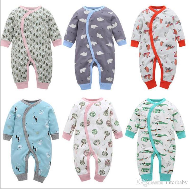 d176b0741958 Baby Romper Boy Girl INS Animal Print Jumpsuit Children Long Sleeve ...