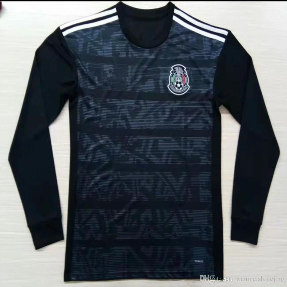 46c8b744815 2019 Mexico Away Long Sleeve Jersey 2019 H.LOZANO H.HERRERA R.MARQUEZ  CHICHARITO A.GUARDADO LAINEZ Soccer Jersey 19 20 Mexican Football Shirt  From ...
