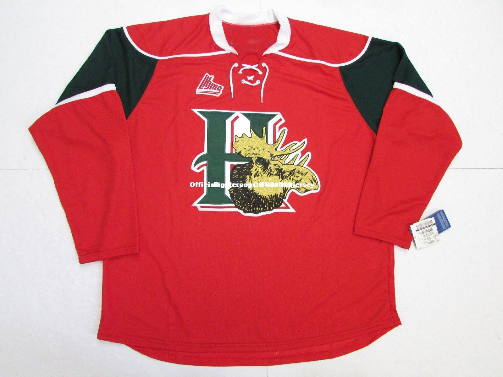 1f41efb2e Cheap Custom HALIFAX MOOSEHEADS QMJHL RED HOME PREMIER 7185 HOCKEY ...
