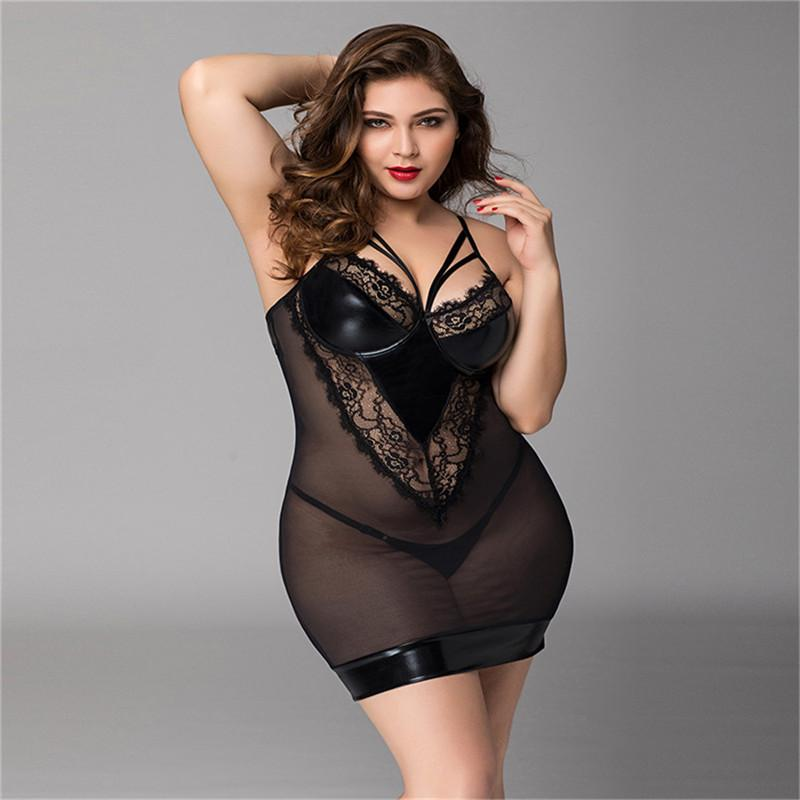 7f0b88c2b 2019 Women Plus Size Sexy Lingerie Babydoll Sleepwear Sexy Hot Erotic  Underwear Nightwear Dress Black Lace Lingerie Babydoll Costume From  Guichenocat, ...