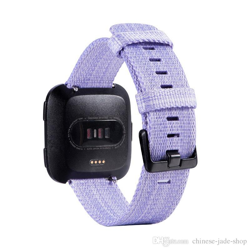 For Fitbit Versa Lite Replacement Watch Strap Bands Sport Canvas Nylon  Braided Straps Band Bracelets 2 color 150PCS/LOT