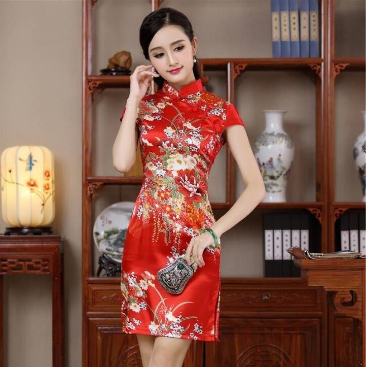72796491f5 2019 Chinese Traditional Modern Qipao Wedding Dress Red Dresses Cheongsam Plus  Size With Embroidery Black Sexy Silk Short 2016 Woman C18122701 From  Shen8407 ...