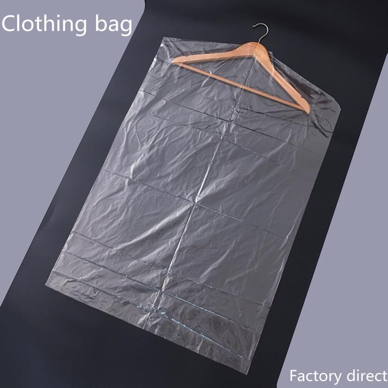 0fcbc0315f0d 10pcs/Lot Plastic Transparent Dust Cover Garment of Clothes Hanging Pocket  Storage Bag Wardrobe Hanging Clothing clothes shop