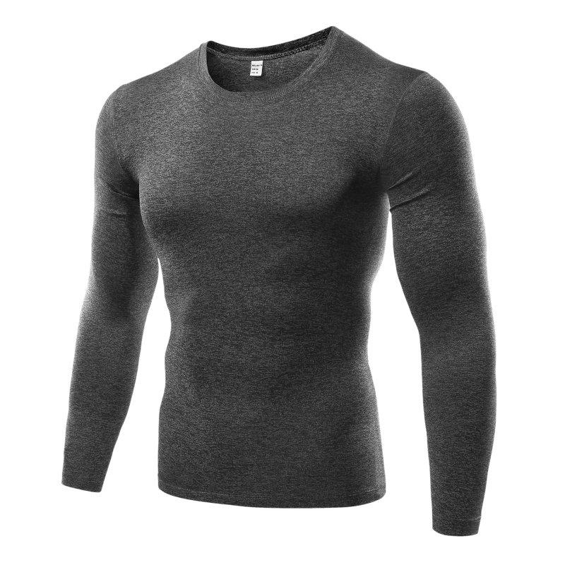 Men Compression Base Layer Tight T Shirt Under Skin Long Sleeve T-shirt Tops Tees