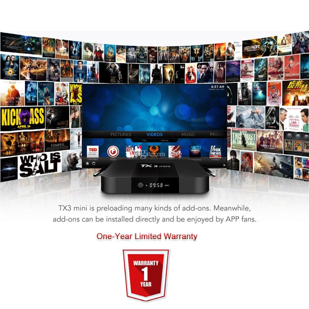 Satxtrem TX3 Mini Android 7 1 2 Tv Box Smart TV H2 65 IPTV 4K Set Top Box  Media Player Amlogic S905W 2G RAM/16G ROM 2 4G WiFi