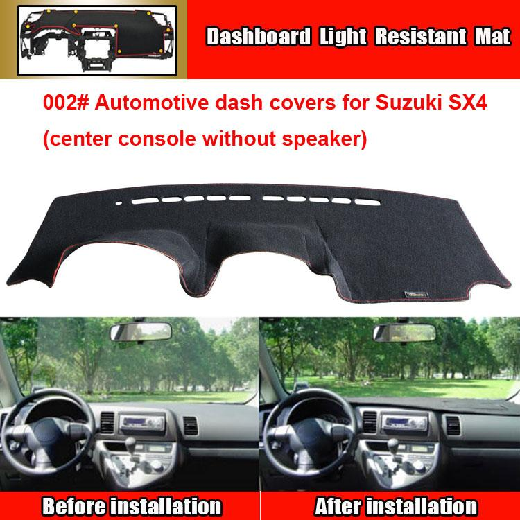 Car Dashboard Covers Automotive Sun Shade Mat For Suzuki SX4 Center Console  Without Speaker Interior Car Accessories Lights For Cars Exterior From ... 6069cedec08