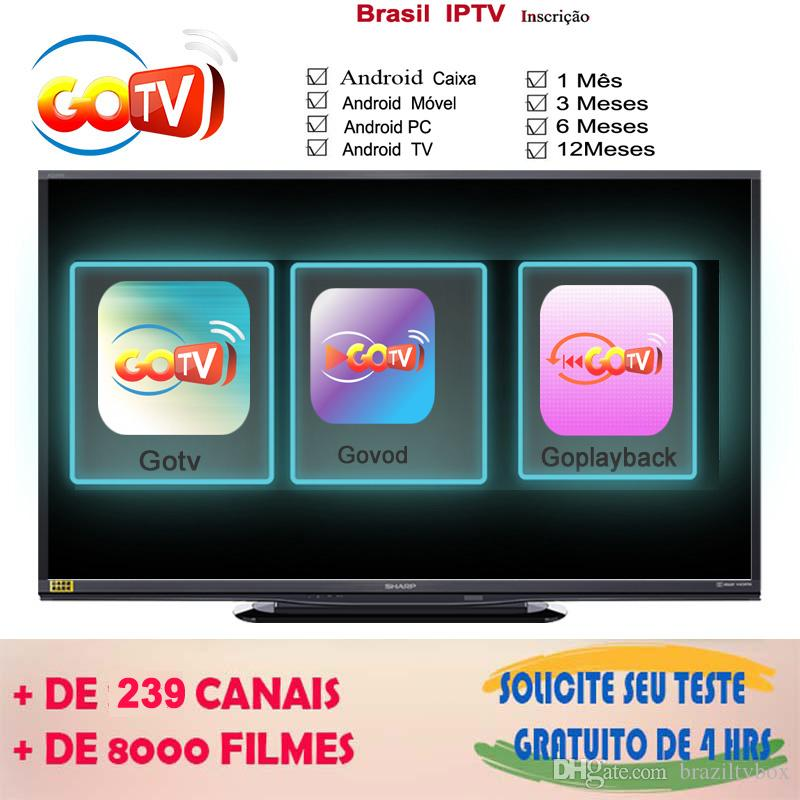 6 Months Brazil 4K hd IPTV APK work for any android tv box android mobile  and android tv LIVE VOD PLAYBACK