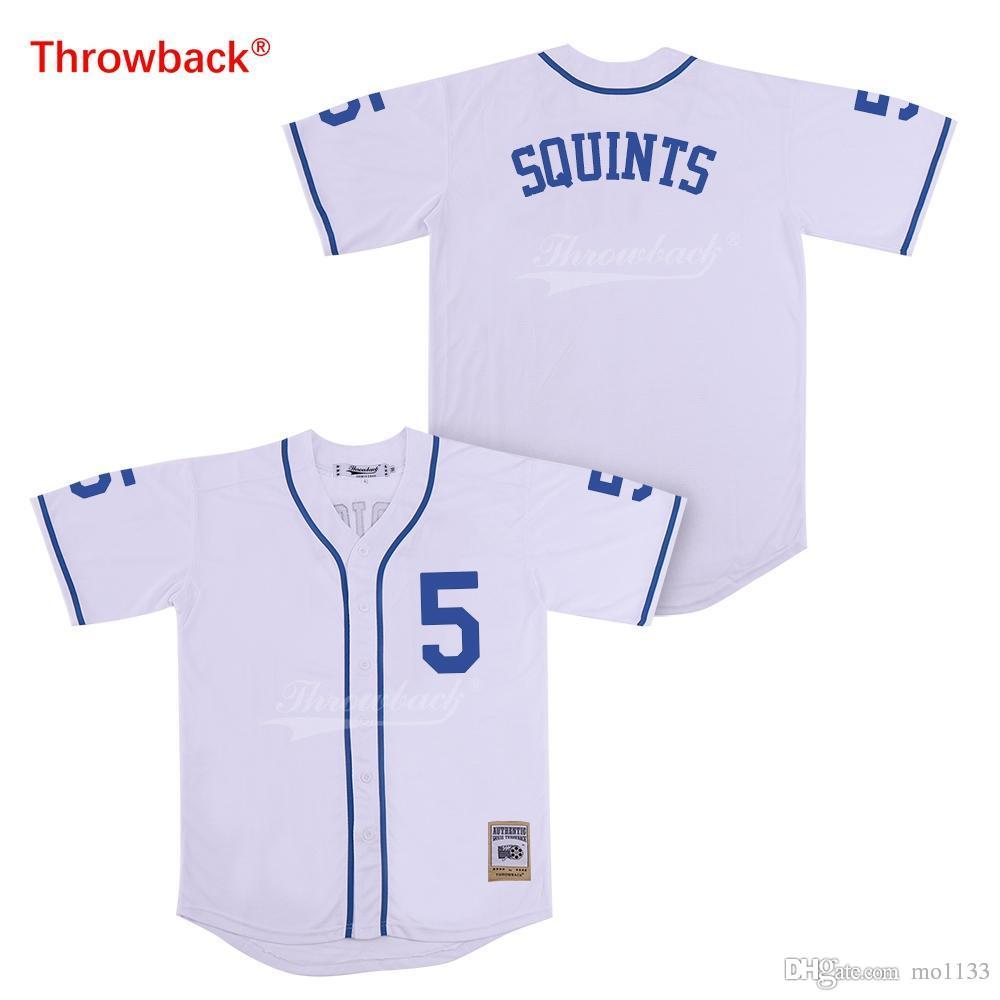Throwback Jersey Mens The Sandlot Movie Baseball Jerseys Squints Jerseys 5 White Shirt Stiched Size S-3xl Free Shipping Team Sports