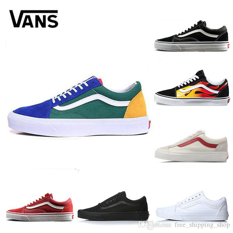 bf7acb80a47f 2019 New Vans Old Skool Yacht Club Men Women Casual Shoes Skateboard Canvas  Sports Mens Trainer Zapatillas Running Shoe Sneakers Eur 36 44 Basketball  Shoes ...
