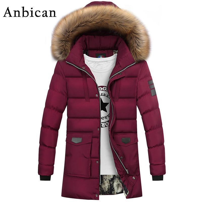 defc776cc7f 2019 Anbican Fashion Red Winter Jacket Men 2017 Brand New Hooded  Windbreaker Mens Long Parka Coat Winter Warm Jacket Plus Size M 4XL From  Braces