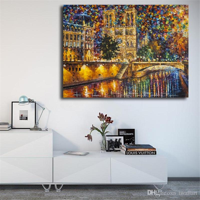 Spatulate Church Bridge HD Wall Art Canvas Poster And Print Canvas Oil Painting Decorative Picture For Office Bedroom Home Decor