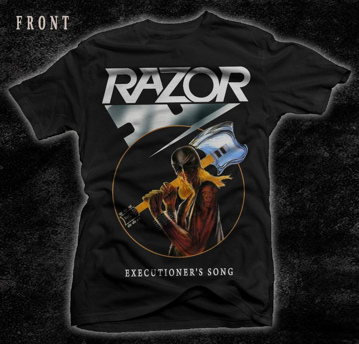 mens designer t shirts shirt RAZOR-Executioner's Song- Speed metal-Exciter-Rush ,T-shirt-SIZES: S to 7XL