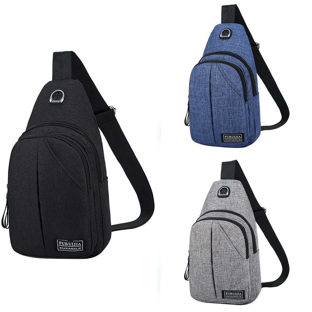 Men Oxford Cloth Chest Bag Wild Small Bag Fashion Pockets with Japan ... a26f51a5f7841