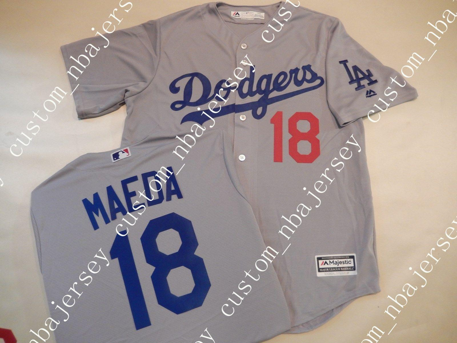 1336b14a9d4f Cheap Custom KENTA MAEDA Baseball JERSEY GRAY Stitched Customize Any Name  Number MEN WOMEN BASEBALL JERSEY XS-5XL KENTA MAEDA MAEDA BASEBALL JERSEY  KENTA ...