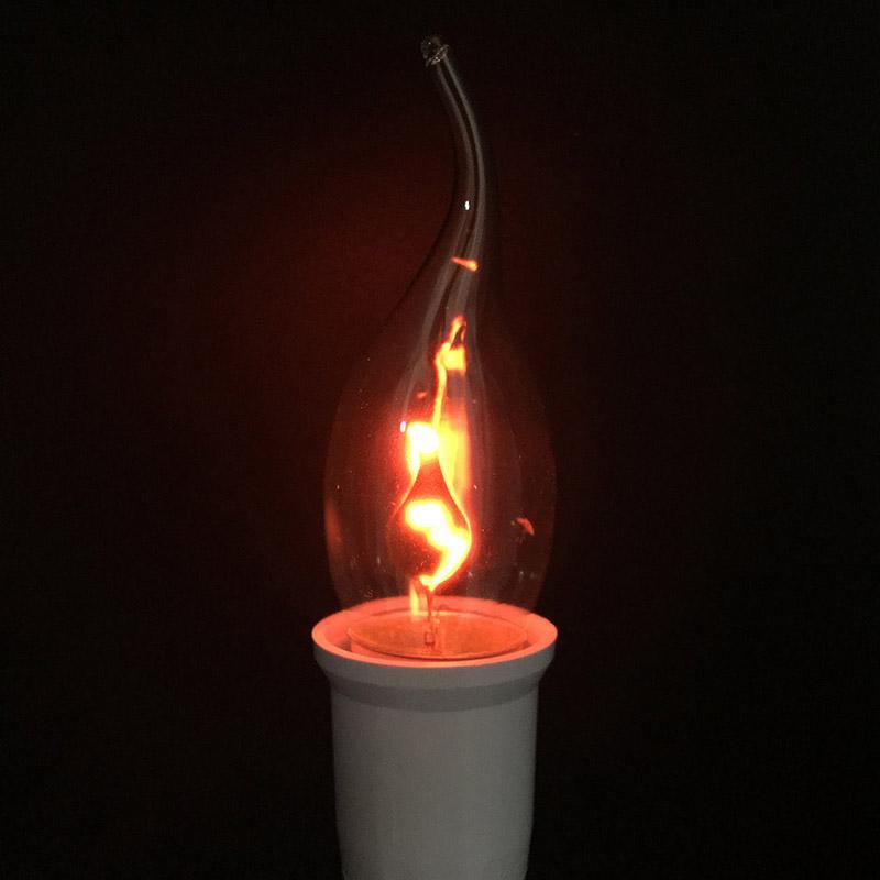 Tungstène Rouge Ampoule Led Scintillement Edison 3w Orange Astuce Effet E27 E14 Lampe Flamme Roman Bougie Feu De Vintage vmON0w8n