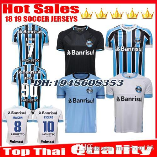 d4a5658103f 2019 2018 2019 Gremio Soccer Jersey 18 19 Gremio MILLER LUAN DOUGLAS DIEGO  HAILON Home Away Third Football Shirts Jerseys Camisetas De Futbol From ...