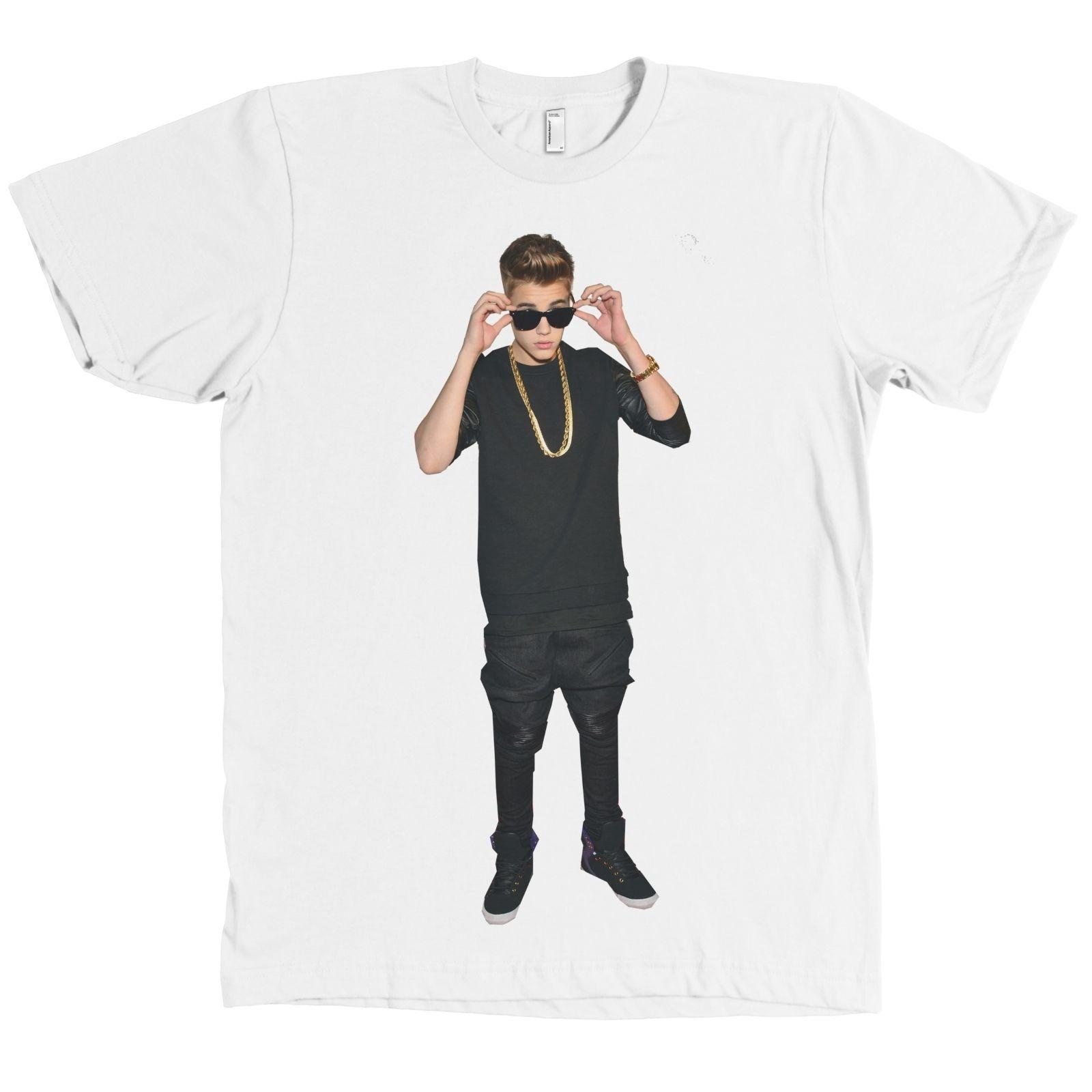 bf715cc3c52f3 Justin Bieber Bella + Canvas T Shirt Belieber Full Portrait Tee QUALITY &  SOFT Short Sleeve Plus Size t-shirt colour jersey Print t shirt