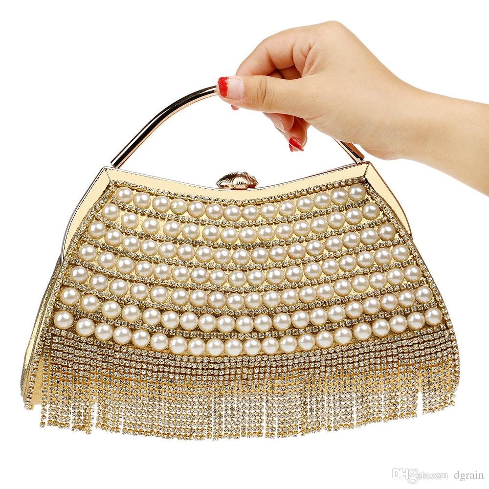 Women Fashion New Designer Clutches Dazzling Gold Crystal Women Evening  Clutch Hard Case Metal Wedding Cocktail Handbag Bridal Diamond Purse  Designer ... 1b3ae0a10889