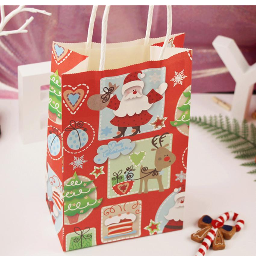 Lovely Christmas Man Paper Bag With Handles Decoration Paper Gift
