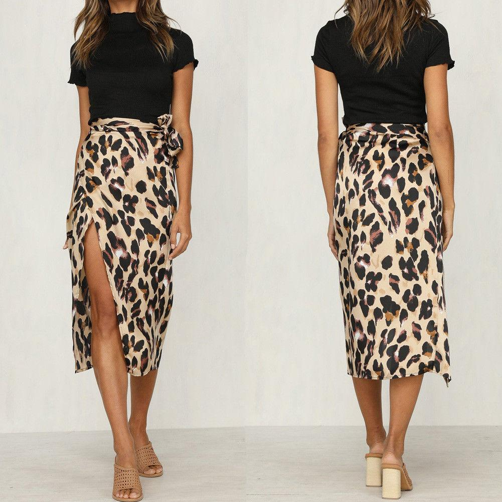 be0f8cffe09165 2019 2019 Newest Women Chiffon Leopard Print Maxi Skirt Ladies High Waisted  Summer Long Skirts Fashion From Qyzs001, $13.17 | DHgate.Com