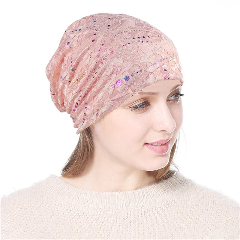 08d592ad Chemo Hat Women Beanie Hat Lace Head Scarf Soft Slouchy Turban ...