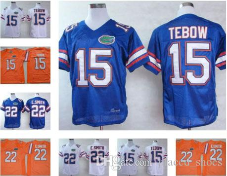 4fb025530 2019 Wholesale Mens Florida Gators  15 Tim Tebow College Football Jerseys  Stitched  22 Emmitt Smith White Blue Orange Jersey From Placed shoes