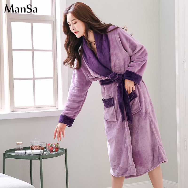 Plus Size Women 4XL 5XL 6XL Kimono Robe Satin Warm Flannel Womens Sexy Robe  Thicken Winter New Purple Bathrobe Elegant Sleepwear UK 2019 From  Zhaolinshe 046a3e6612