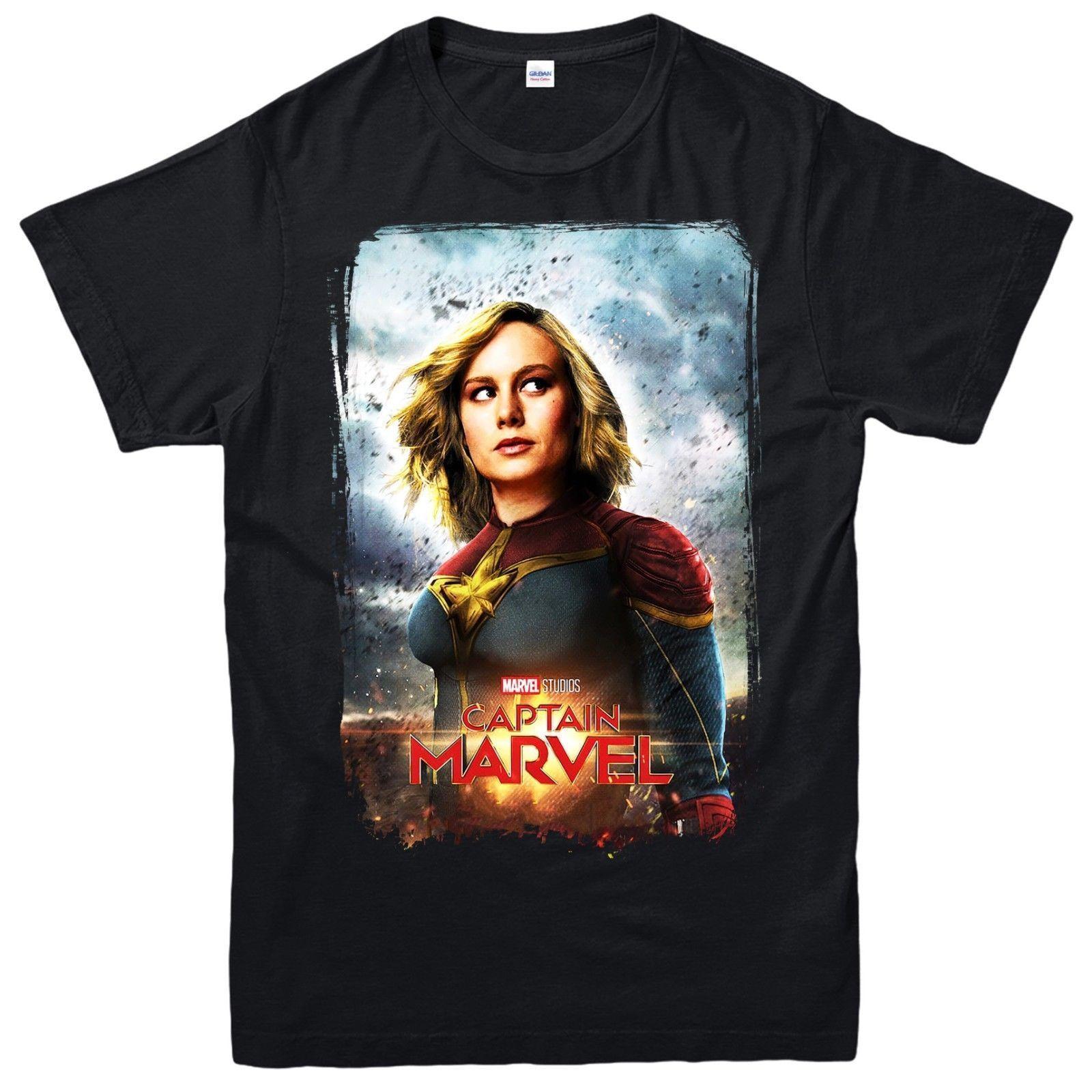 9f056880d22 Compre Capitán Marvel Camiseta Avengers Superhéroe Comic Top Unisex Hombres  Mujeres Kid Tee Top Venta Al Por Mayor Barata Tees100% Algodón Para ManT ...