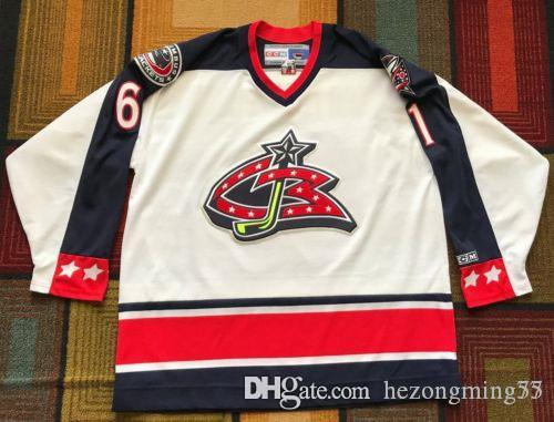 new products 837c3 a2f6b 61 Rick Nash Columbus Blue Jackets Hockey Jersey Embroidery Stitched  Customize any number and name