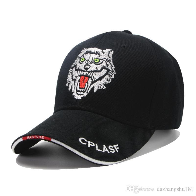 35d0c4990 Baseball Caps New Fashion Wolf Head Sport Baseball Cap Men Women Snapback  Caps Outdoor Hat Driving Cap