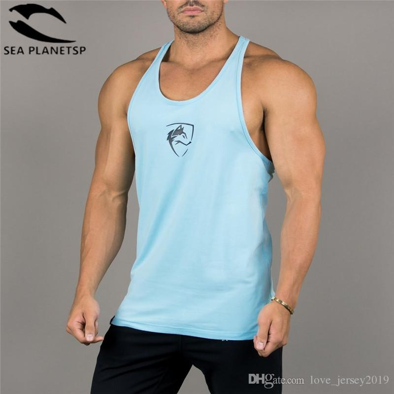 7f8fd070163870 2019 ALPHALETE Brand Gyms Tank Tops Men Singlet Sleeveless Summer Cotton  Male Gyms Clothing Bodybuilding Undershirt Golds Fitness Tee  271679 From  ...