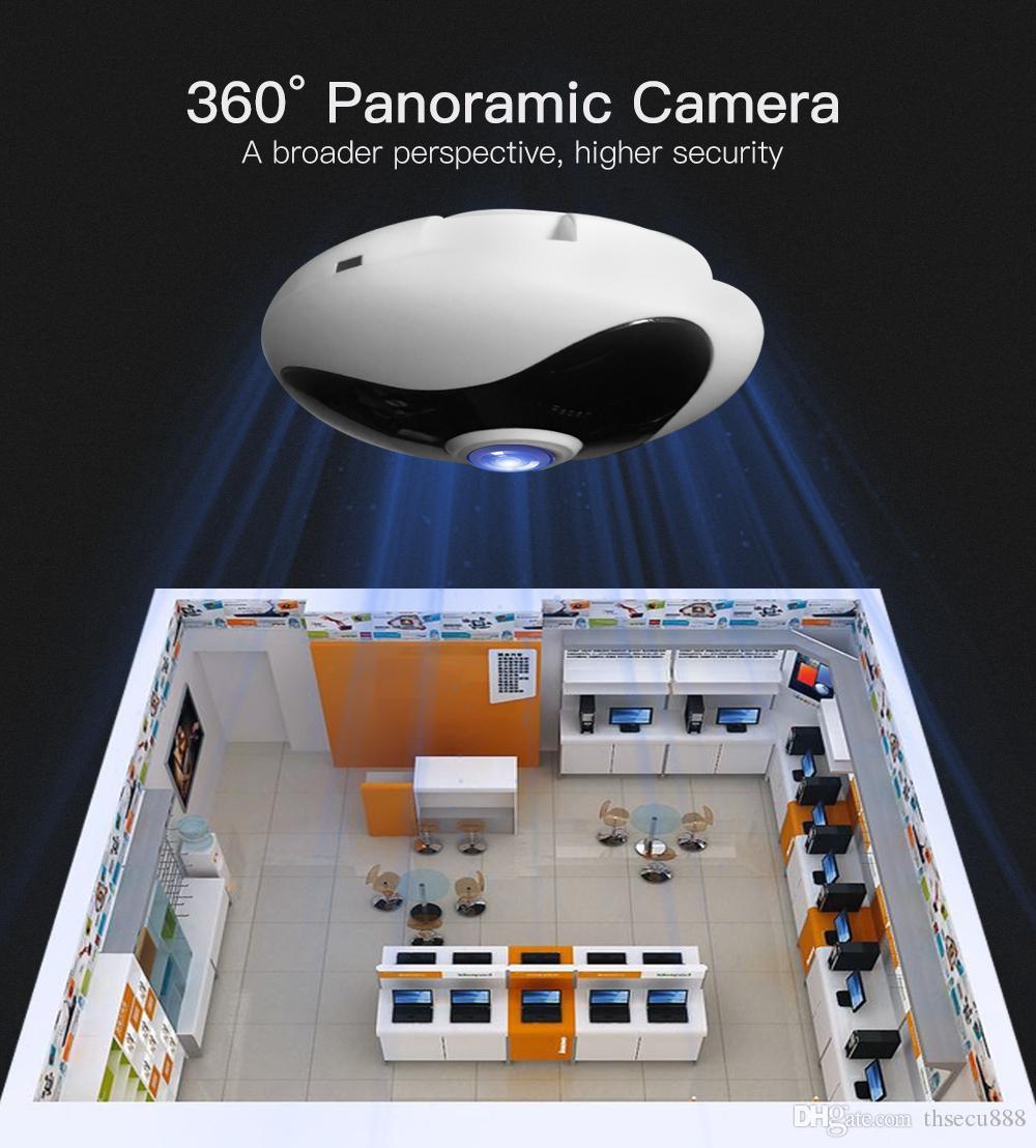 iCSee 1080 P WIFI VR Câmera IP Portátil de segurança CCTV Inteligente  Panorâmica 360 graus Fisheye Camera Webcam Comcast NightVision Bebê monitor
