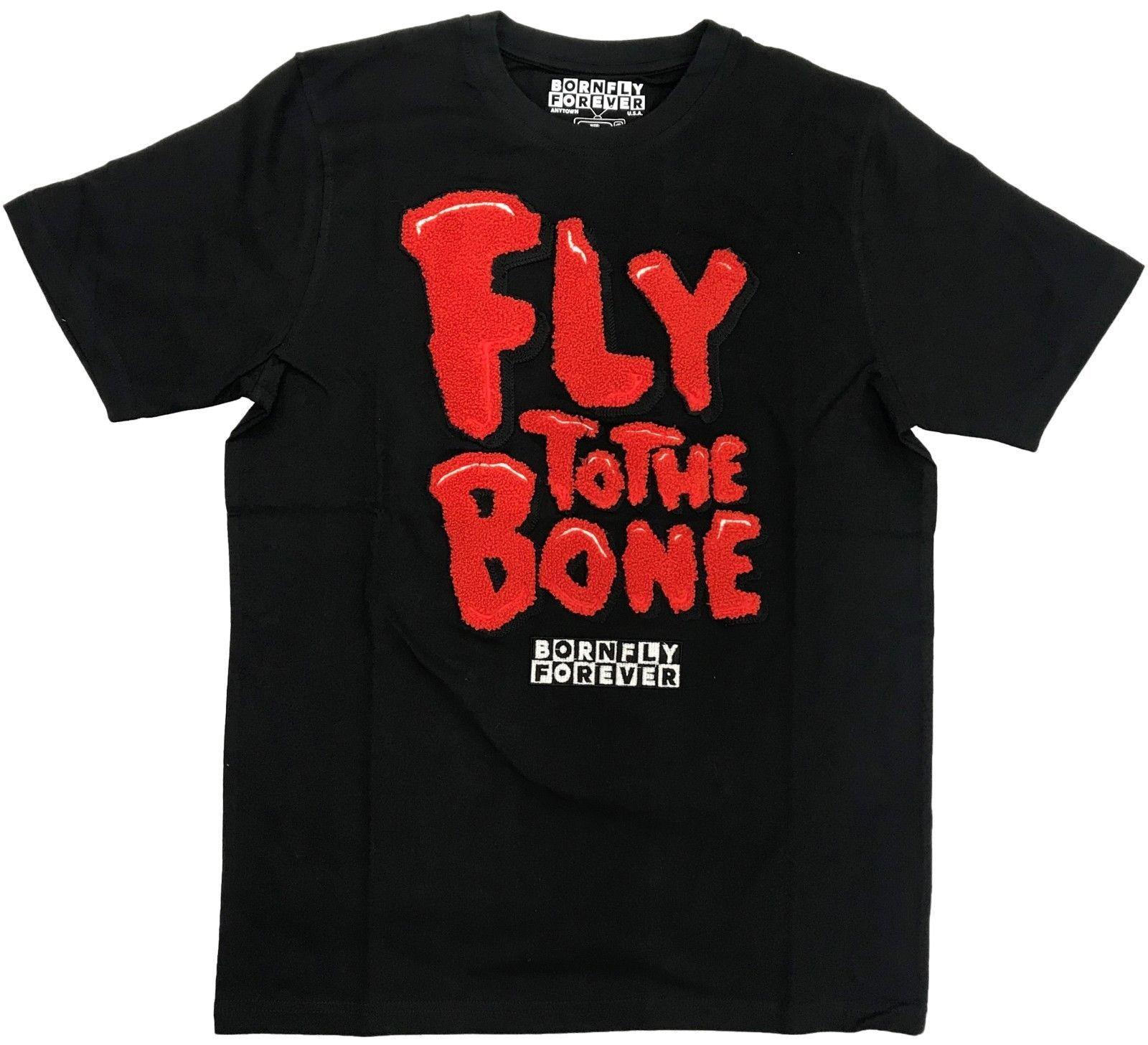 Born Fly Black Fly To The Bone T Shirt Harajuku Summer 2018 Tshirt