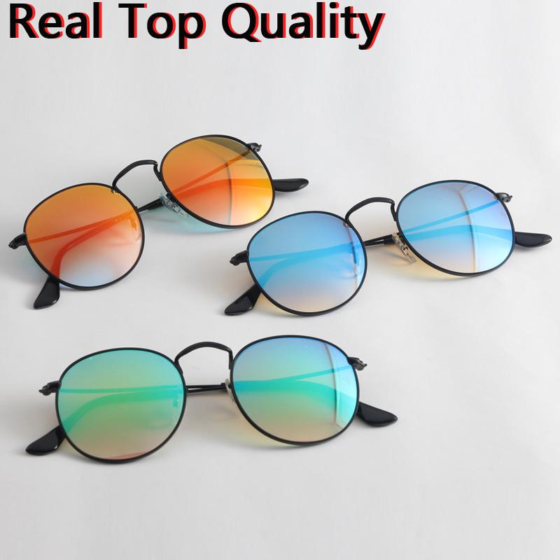 c4b223a175b Designer Sunglasses 2019 New Round Metal Men Women Real UV400 Glass ...