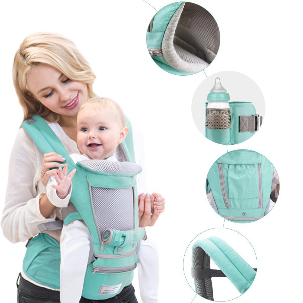 Ergonomic Baby Carrier Infant Kid Baby Hip Seat Sling Front Facing Kangaroo  Wrap Carrier For Travel 0-18 Months